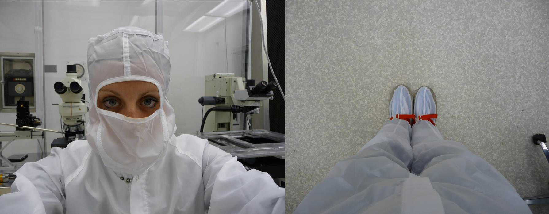 Me in my cleansuit at NASA Cosmic Dust Lab